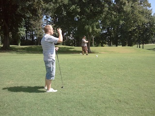 Devlin on the fairway